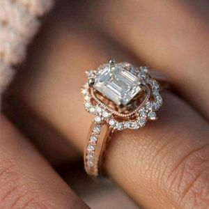 Jewelry - Stunning CZ Rose Gold Filled Ring